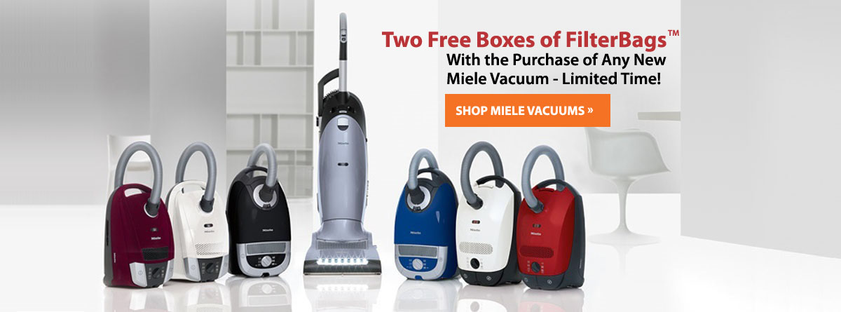 2 Free FilterBags with Purchase of Miele Vacuum!