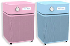 Austin Air Baby's Breath Air Purifier in Blue and Pink