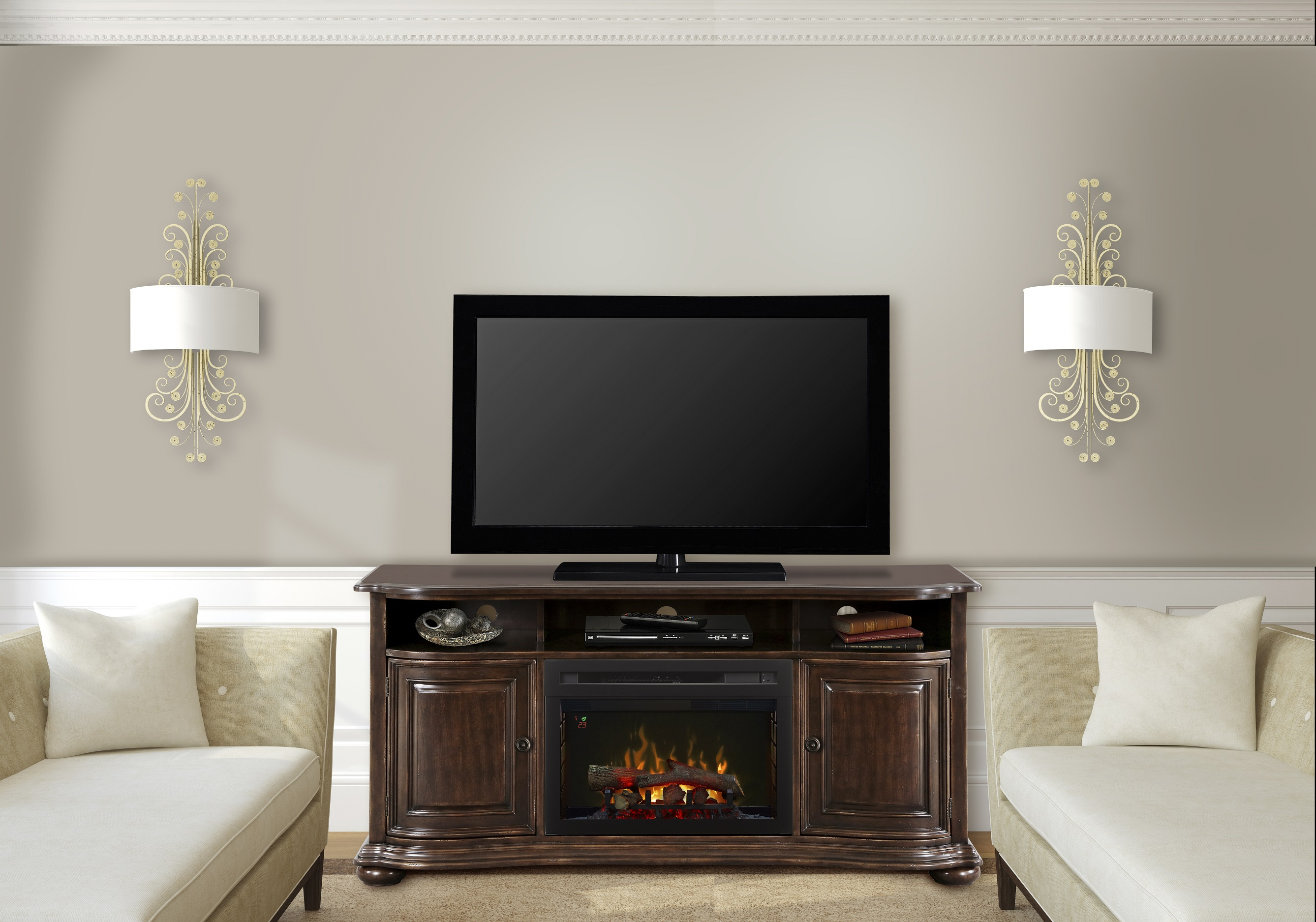 decoration top best center contemporary tv media electric with stylish of stand design updated fireplace creative