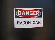 Radon Gas Danger Sign