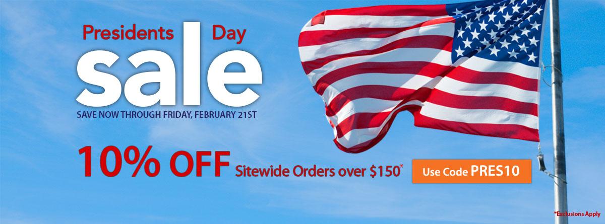 Sylvane President's Day Sale Banner