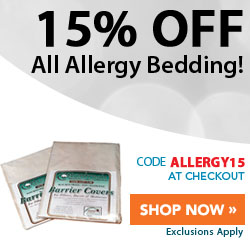 15% Off Allergy Bedding