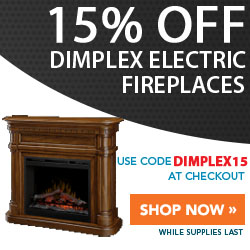 15% Off Dimplex Electric Fireplaces