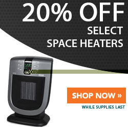 20% Off Select Space Heaters